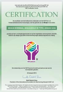 IGEF certificaat
